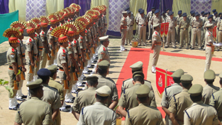 SSB personnel at Raising Day function in Jammu on Thursday.