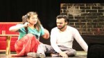 A scene from the play 'Chote Log' staged at Abhinav Theatre.