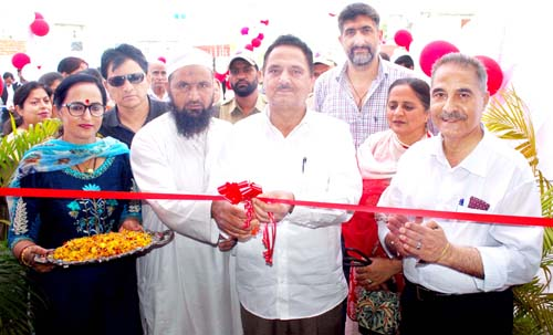 Chief guest opening new branch of Astro Kids Playway & Daycare at Sunjuwan in Jammu on Saturday.
