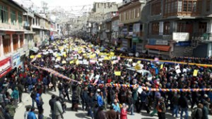 LBA takes out rally for UT status to Ladakh, freedom from Kashmir rule