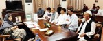 Chief Minister Mehbooba Mufti interacting with a delegation in Jammu on Wednesday.