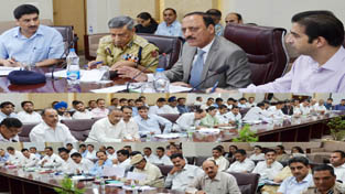 Minister for Rural Development, Panchayati Raj, Law & Justice, Abdul Haq Khan reviewing performance of prosecution wing of Police Department.