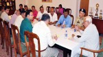 Governor NN Vohra interacting with SABLO delegation in Jammu on Wednesday.