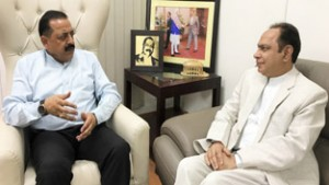 VC Central University Jammu calls on Dr Jitendra