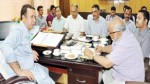 Minister for Food, Civil Supplies and Consumer Affairs Choudhary Zulfkar Ali chairing a meeting in Jammu on Wednesday.