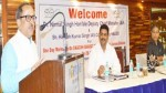 Deputy Chief Minister Dr Nirmal Singh speaking during a function on SBM.
