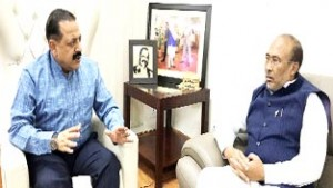 Dr Jitendra compliments Manipur CM for getting Naga blockade lifted