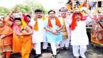MLA R S Pura, Dr Gagan Bhagat leading a religious procession in Miran Sahib on Thursday.