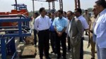 Deputy Chief Minister Dr Nirmal Singh during tour of Srinagar city on Wednesday.