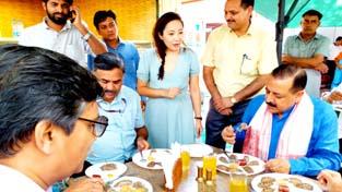 Union Minister Dr Jitendra Singh during a promotional visit to the DoNER/Northeast Ministry's newly launched