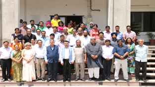Participants of conference on Silk Route Tourism posing for a group photograph with CUJ VC during valedictory function.