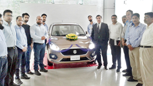 New Dzire being launched at Ganderbal.