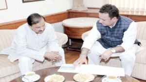 Zulfkar calls on Union Tourism Minister, highlights potential of Rajouri- Poonch
