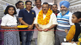 Minister for Industries & Commerce, Chander Parkash Ganga inaugurating free medical camp at Samba on Sunday.