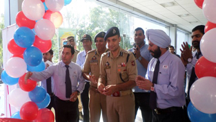 Deputy General Manager, Jamkash Vehicleads Badhoon, I P Singh along with a senior police officer on the launch of All New Dzire in Rajouri.