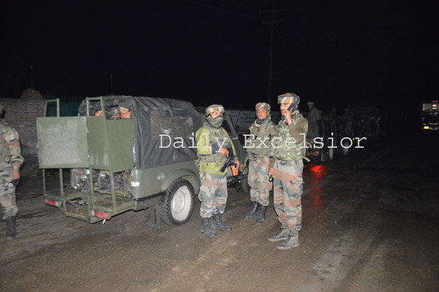 Three militants of Lashkar-e-Toiba were killed in South Kashmir's Pulwama district  on Thursday .. Excelsior\Younis Khaliq