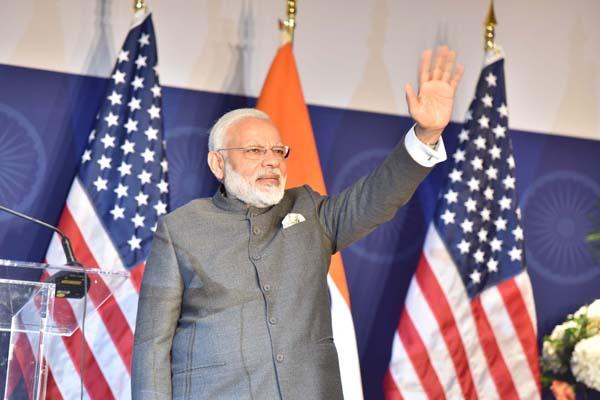 Prime Minister Narendra Modi at the Indian Community