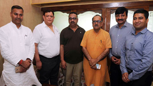 Members of  JCCI during a meeting with DyCM in Jammu on Friday.