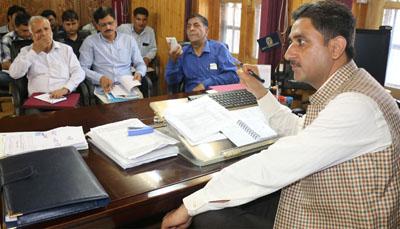DDC Kupwara Khalid Jhangir chairing a meeting.