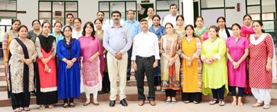 Participants of Teachers Workshop posing along with resource person and other dignitaries.