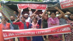 Contractual Lecturers continue  hunger strike for regularization