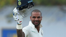 Shikhar Dhawan celebrating century against Sri Lanka at Galle.