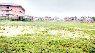 Lasjan sports stadium in pathetic condition.