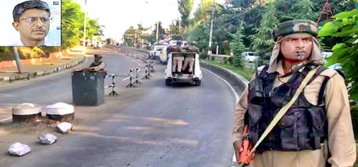 Separatists being taken from Srinagar to New Delhi under tight security. (Inset) IG NIA Alok Mittal.