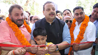 NC Provincial President, Devender Singh Rana during a function at RS Pura on Sunday.