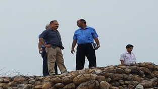 Commissioner Secretary Health Dr Pawan Kotwal inspecting site for AIIMS on Thursday.