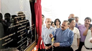 Union Minister Dr Jitendra Singh laying the foundation stone of the first-ever Northeast students hostel at Jawaharlal Nehru University (JNU), New Delhi on Monday.
