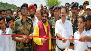 Minister for Forest, Ch Lal Singh inaugurating 'Van Mahotsav'.