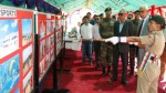 Governor N N Vohra during his visit to Special National Integration Camp at Leh on Thursday.