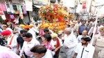 Shoba Yatra being taken out in Jammu on Monday.-Excelsior/Rakesh