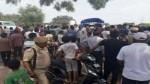 People protesting at Samba on Thursday. -Excelsior/Gautam