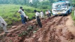 Worst condition of road to village Sunetar.