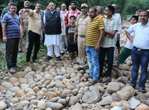 Rana visits cloud-burst hit areas of Nagrota;  seeks infrastructural restoration