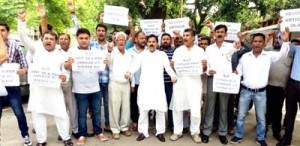 NPP protests double standards of BJP over Article 35A