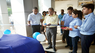 Speaker Legislative Assembly Kavinder Gupta unveiling new version of 'Verna' at Pace Hyundai.
