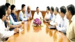 """Union Minister Dr Jitendra Singh at a meeting with a delegation of """"Seema Jagran Manch"""" who called on him to discuss the Kashmir situation, at New Delhi on Monday."""