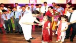 Minister for Education, Altaf Bukhari interacting with a child during Annual Day function at Minto Circle Higher Secondary School, Alochibagh, Srinagar.