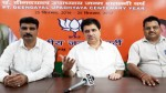 BJP chief spokesperson, Sunil Sethi addressing a press conference at Jammu on Monday.-Excelsior/ Rakesh
