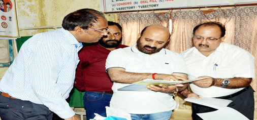 Health and Medical Education Minister Bali Bhagat inspecting a Health Centre in Jammu on Tuesday.