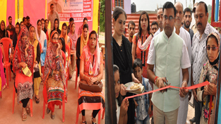MLA Neelam Kumar Langeh inaugurating Kaushal Vikas Mela at Ramban on Sunday.