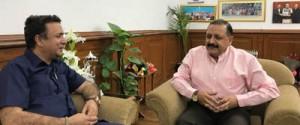 Zulfkar calls on Dr Jitendra,  discusses development issues