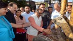 DyCM, Dr Nirmal Singh kick-starting construction work of Krishna Nagar nallah on Sunday.