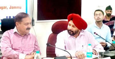 Principal Secretary Dr Pawan Kotwal reviewing functioning of health sector and National Health Mission in Jammu.