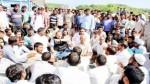 NC Provincial President Devender Singh Rana pacifying agitating people in Nagrota.