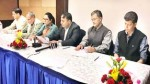 Members of Kashmir Chamber of Commerce and Industry at meeting in Srinagar on Sunday.