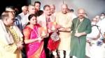 Speaker Kavinder Gupta, Minister Priya Sethi, BJP Vice President Yudhvir Sethi and others releasing a book on the life and preaching of Yogiraj Shri Ram Ji Lal Ji.